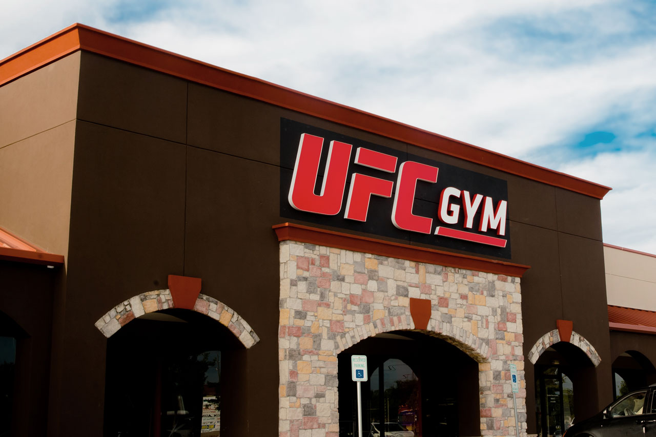 Exterior shot of UFC GYM sign