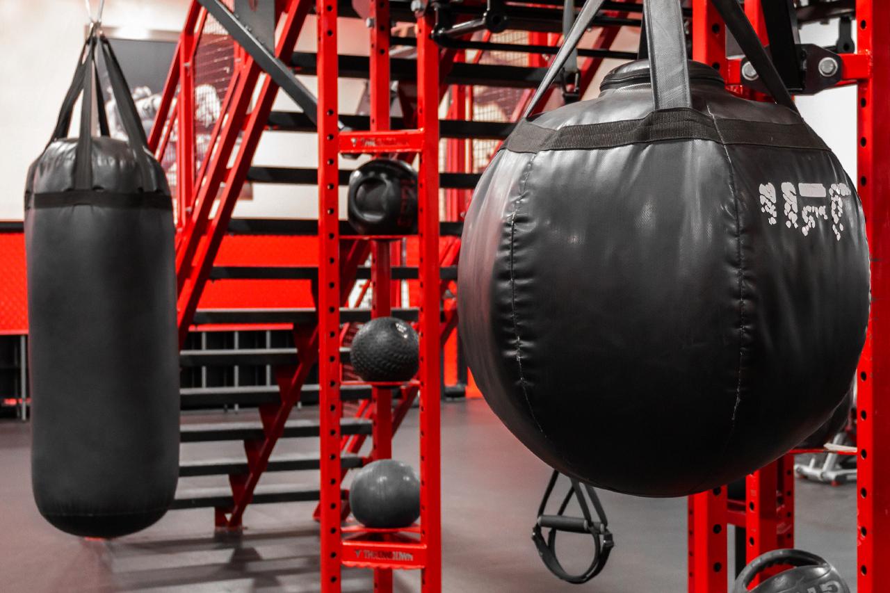 Photo of UFC GYM punching bag area